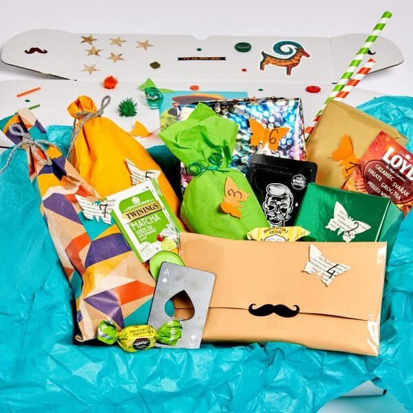 gifts and treats from the mystery box